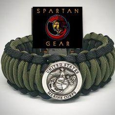 USMC EGA Concho Overlay King Cobra braid Marine   Etsy Usmc Emblem, Spartan Helmet, King Cobra, Scotch Tape, Paracord Bracelets, Yellow Black, Watch Bands, Overlays, Two By Two