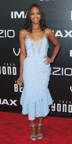 Zoë Saldana Looks Out of This World at Star Trek Beyond's Comic-Con Premiere from InStyle.com