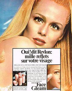 """Revlon """"Face Gleam"""" Ad, France 1968"""