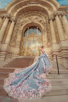 Nothing is sweeter than twirling in this princess worthy pastel floral gown from Bella Wedding Dress! Nothing is sweeter than twirling in this princess worthy pastel floral gown from Bella Wedding Dress! Most Beautiful Wedding Dresses, Dream Wedding Dresses, Beautiful Gowns, Ball Dresses, Nice Dresses, Prom Dresses, Bella Wedding Dress, Princess Wedding, Fantasy Gowns