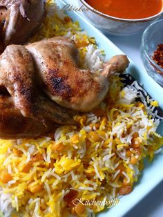 Food Illustration Description Chicken Majboos – Kuwaiti chicken and rice – Read More – Lebanese Recipes, Indian Food Recipes, Ethnic Recipes, Israeli Recipes, African Recipes, Middle East Food, Middle Eastern Recipes, Kuwait Food, Egyptian Food