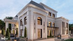MQM | iMaker Classic House Exterior, Dream House Exterior, French Chateau Homes, Mediterranean Homes Exterior, House Outside Design, Modern Villa Design, Ideas Hogar, Facade House, Exterior Design