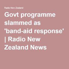 Govt programme slammed as 'band-aid response' Policy Change, Band Aid, Slammed, Programming, No Response, Families, Politics, News, My Family