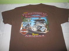 HARLEY DAVIDSON Dealer Graphic T Shirt Sz M Medium - Brown - YUMA AZ #HarleyDavidson #GraphicTee