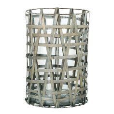 Lanterne bambou gris GM