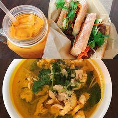 a good #Vietnamese cafe in the neighborhood 😋bahn mi + noodle 🍜 + iced tea = #nomnomnom  .  .  .  .  .  #kimscafe #vietnamesefood #bahnmi #noodlesoup #vietnamesenoodle #vietnamesenoodlesoup #chickennoodlesoup #icedtea #thaiicedtea #albanyca #berkeley #berkeleyeats  #eastbay #eastbayeats  #foodie #foodstagram #브런치 #베트남음식 #반미 #반미샌드위치 #베트남국수 #타이아이스티 #이스트베이 #버클리 #버클리맛집 #먹스타그램 #푸드스타그램