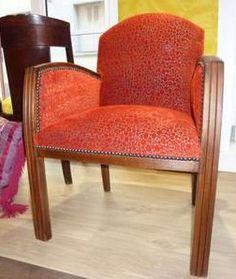 tissu belize casal fauteuil art déco