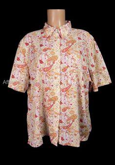 TILLEY ENDURABLES Shirt Plus 2XL 2X XXL Short Sleeve Paisley Travel Top $128 #TilleyEndurables #ButtonDownShirt #Casual
