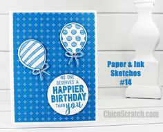 Paper and Ink Sketches 14 with Balloon Adventures Bundle and Party Animal Designer Series Paper https://mychicnscratch.com/2017/02/paper-ink-sketches-14.html