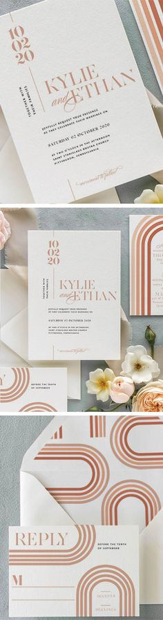 Pretty Paper.  Marvelous Details.  Classic Style.  These wedding  invitations give a nod to elegant, classic design, while injecting a  fresh  perspective that keeps each suite from feeling dated. Our stationery  will spark up nostalgia for your grandmother and make your best friend  look forward to planning her own big day.  #weddingideas #weddinginvitations #weddinginvites #romanticweddings #springwedding #fallwedding #summerwedding #bohowedding