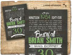 30th birthday invitation Surprise 30th birthday by 2birdstudios, $20.00