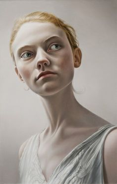 Georgie Oil on Panel by Mary Jane Ansell