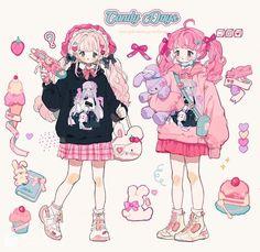 Cute Art Styles, Cartoon Art Styles, Kawaii Art, Anime Kawaii, Kawaii Drawings, Cute Drawings, Pretty Art, Character Design Inspiration, My New Room