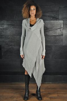 Alessandra Marchi – Asymmetric Long Cardigan, beige | -PNP, fashion stores in Florence | -PNP, fashion stores in Florence