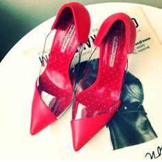 #redshoes #fashion #shoes #sepala #mihaelaglavan #women #womenstyle Red Shoes, Fashion Shoes, Footwear, Heels, Women, Style, Atelier, Red Dress Shoes, Heel