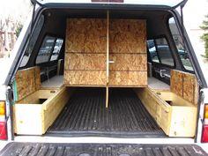 Tacoma Sleeping Platform, Carpet Kit, Camping Setup