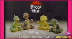 Land Before Time Pizza Hut Toys (I still have Spike! It was a Christmas present from my brother!)  <3
