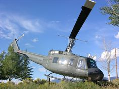 This UH-1 Huey helicopter was utilized during the Vietnam War, and is on exhibit at the Memorial.