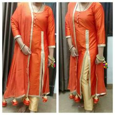 Silk front cut# indo western wear# for details whats app at 8745826707