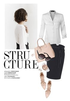 WorkWear by reginakos on Polyvore featuring polyvore, fashion, style, LE3NO, Gucci, Karl Lagerfeld, Stührling, Saks Fifth Avenue, Steve Madden, MANGO, clothing, WorkWear, basic and simplechic
