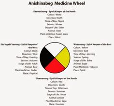 A Medicine Wheel is round representing the circle of life. It consists of many different aspects which connect human beings to all living things on Mother Earth. When all four directions are in balance, harmony and unity is created. Native American Medicine Wheel, Native American Prayers, Native American Spirituality, Native American Wisdom, Native American Pictures, American Indians, Indigenous Knowledge, Indigenous Education, Indigenous Art