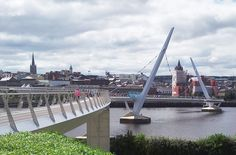 The Derry Peace Bridge in Northern Ireland.