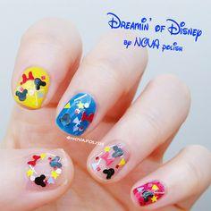 Dreamin' of Disney by NOVA polish - mickey nail polish, disney nail polish, disneyland, Mickey Mouse nail, glitter topper,minnie glitter by NOVApolish on Etsy https://www.etsy.com/listing/269772032/dreamin-of-disney-by-nova-polish-mickey