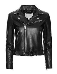 IRO Gant Moto Leather Jacket: Black