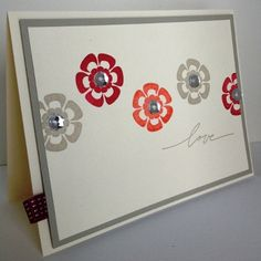 Handmade card using Betsy's Blossoms and Best of Love stamp sets from Stampin' Up!