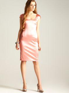 Cap Sleeve Satin Dress
