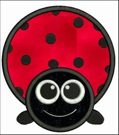 Big Eyed Ladybug Applique Machine by embroiderydesignsavi on Etsy, $3.99