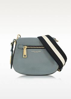 77632f93bb81 MARC JACOBS Gotham City Dolphin Blue Leather Small Saddle Bag.  marcjacobs   bags