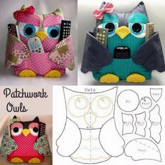 Inspiration. No actual pattern for owls shown