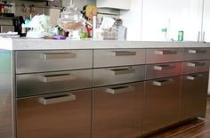 Aluminium kitchen units Kitchen Units, Kitchen Ideas, Aluminium Kitchen, Filing Cabinet, Home Kitchens, Projects To Try, Storage, House, Inspiration