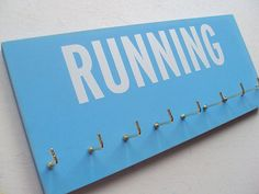 Cool for like a workout room. Display my future medals! Workout Room Home, Workout Rooms, At Home Workouts, Running Medals, Running Gifts, Medal Holders, Gifts For Runners, Runners World, Wooden Walls