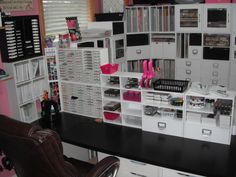 Jealous of this craft room! She has SO much stuff! Looks like I have some shopping to do haha
