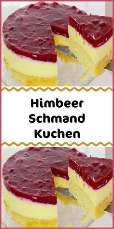 Raspberry sour cream cake-Himbeer Schmand Kuchen Ingredients (for a 26 springform pan): cake base: – 2 … - Easy Smoothie Recipes, Easy Cookie Recipes, Cupcake Recipes, Dessert Recipes, Healthy Smoothies, Sour Cream Cake, New Cake, Cake Ingredients, Fall Desserts