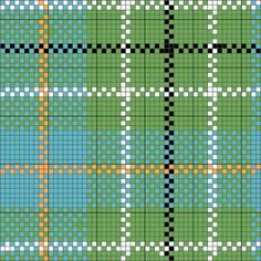 duncan tartan charted for needlepoint or cross stitch by janet perry