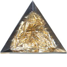 Bugle Beads Twisted, 12mm, Gold S/L (100) at Sova-Enterprises.com