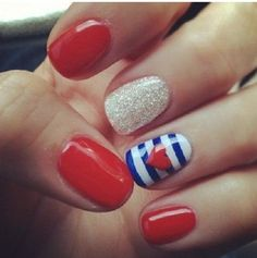 Memorial Day is United States federal holiday; people celebrate with it every year on last Monday in May. Here you will find best Memorial Day nail art designs. Short Nail Designs, Cute Nail Designs, Art Designs, Design Ideas, Fingernail Designs, Pretty Designs, Design Design, Awesome Designs, Salon Design