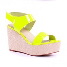 Philly Wedge Patent Neon Yellow  solesociety  philly  wedge  neon 3dadf726899a