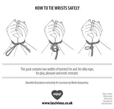 How To Tie Wrists Safely - my dear mk: Bondage by Lascivious, Drawings by Masha Karpushina