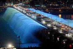 El puente Banpo, Corea del Sur.