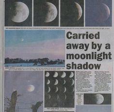 Imagem de moon, newspaper, and grunge