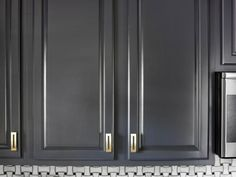 Give your existing kitchen cabinets a high-end designer look with these professional refinishing tips.