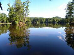 View from dock at Lake Vanare Cabins. Just a beautiful Adirondack morning.