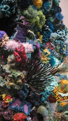 5. Beach scene: Looks real, doesn't it? I took this picture of the Hyperbolic Crochet Coral Reef Project at the Smithsonian in 2010.