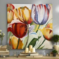 Abstract Flowers, Watercolor Flowers, Watercolor Paintings, Original Paintings, Pallet Art, Art Moderne, Painting Inspiration, Art Pictures, Flower Art