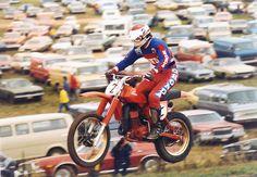 Honda Dirt Bike, Honda Bikes, Honda S, Honda Motorcycles, Mx Bikes, Cool Bikes, Vintage Motocross, Vintage Racing, Marty Smith