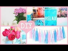 DIY Easy and Inexpensive Summer Room Decor 2015. Tumblr Inspired, Annie Elizabeth, My Crafts and DIY